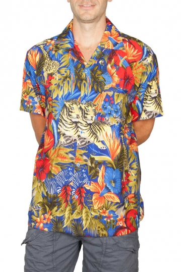Hawaiian shirt Attenborough blue