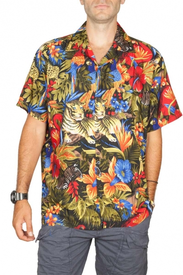 Hawaiian shirt Attenborough black
