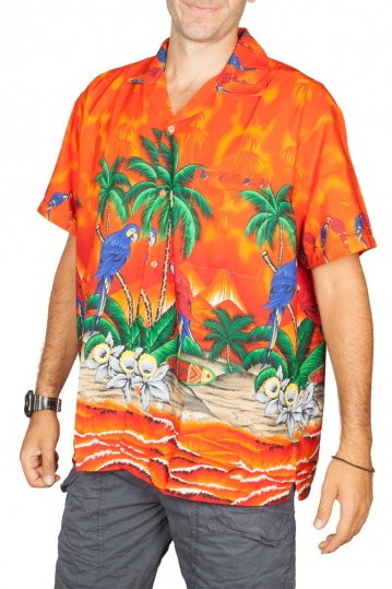 Hawaiian shirt Sex on the beach orange