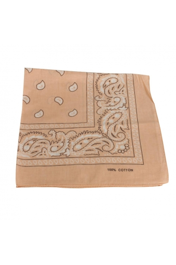 Vintage print bandana beige