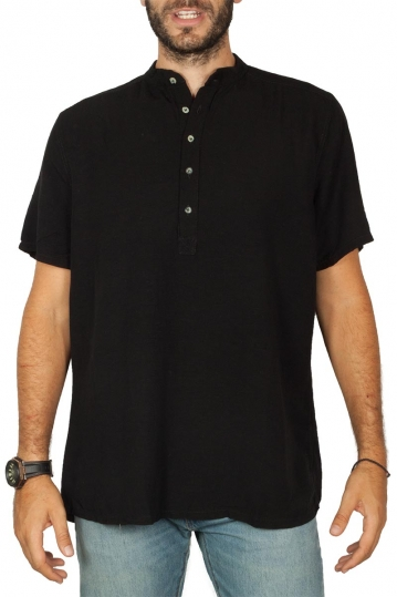 Bigbong linen shirt black