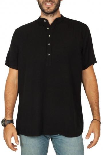Bigbong linen shirt black