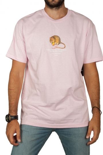 Huf t-shirt Rat Race coral pink