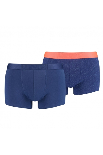 Levi's® injected slub neon red boxer blue 2-pack