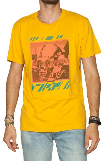 Obey Meltdown skull superior t-shirt mellow yellow