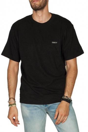 Obey Ideals organic slub t-shirt black