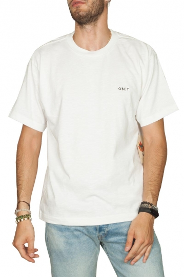 Obey Ideals organic slub t-shirt white
