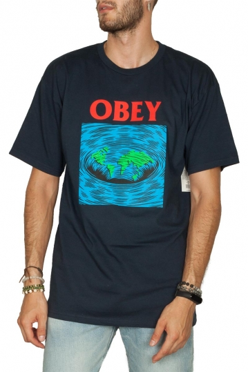 Obey Worldpool basic t-shirt navy