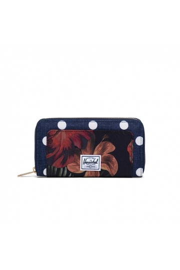 Herschel Supply Co. Thomas RFID wallet polka dot crosshatch small/tropical hibiscus