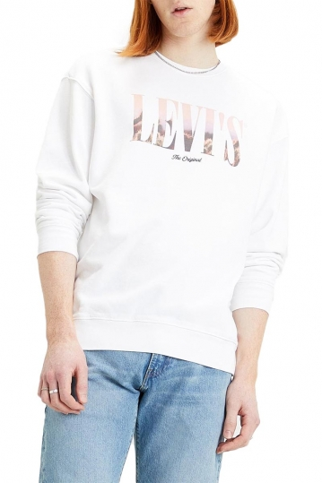Levi's® Graphic crew sweatshirt serif white