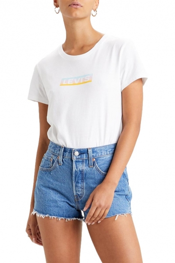 Levi's® The perfect tee box tab gradient - white