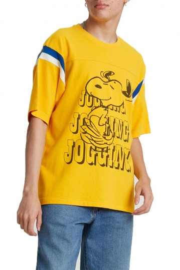 Levi's® x Peanuts® football t-shirt Snoopy yellow