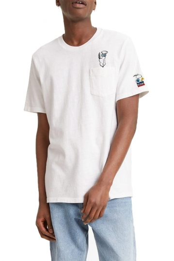 Levi's® x Peanuts® pocket t-shirt Snoopy white