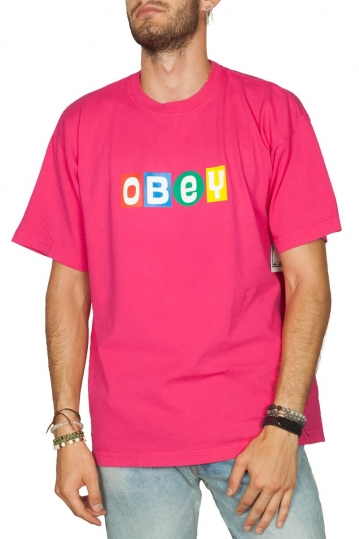 Obey Big Shot heavyweight box t-shirt magenta