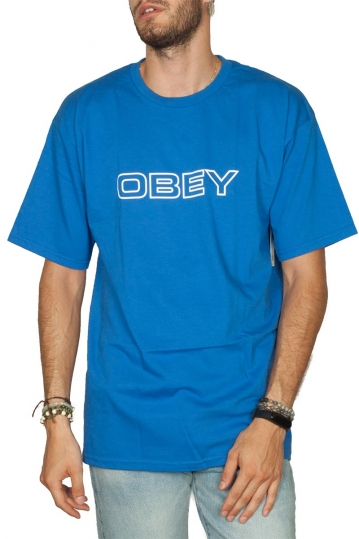 Obey Ceremony basic t-shirt royal blue