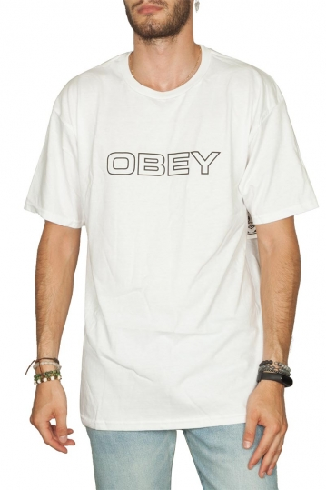 Obey Ceremony basic t-shirt white