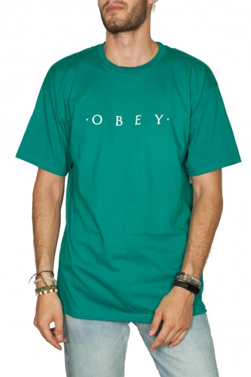 Obey Novel basic t-shirt teal