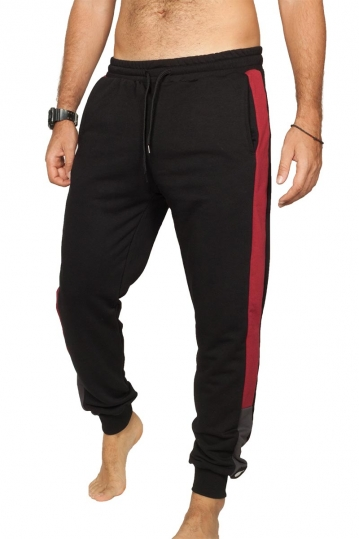 Bigbong joggers black with side stripe