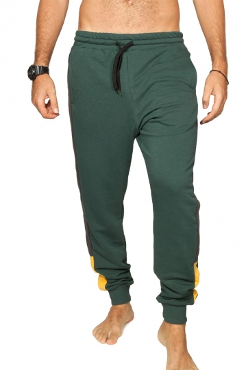Bigbong joggers green with side stripe