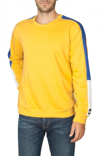 Bigbong sweatshirt yellow with side stripe