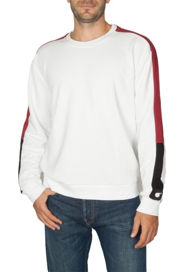 Bigbong sweatshirt white with side stripe