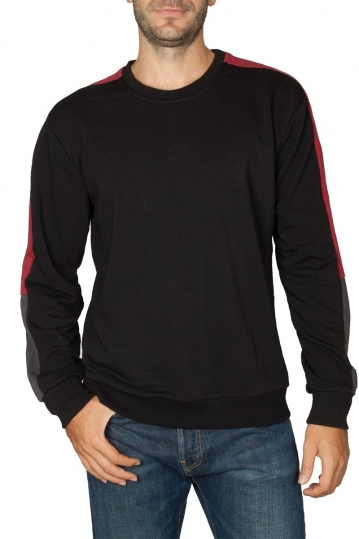 Bigbong sweatshirt black with side stripe