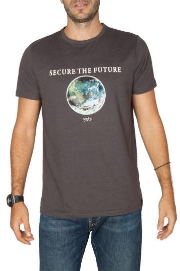 Bigbong Secure the Future print t-shirt anthracite