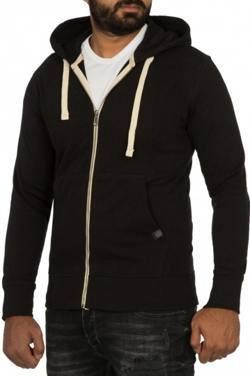 Young & Rich zip hoodie black