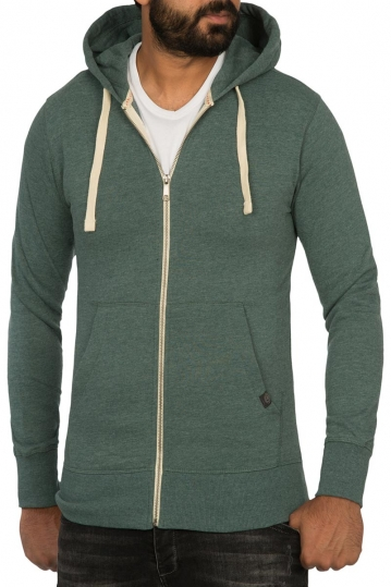 Young & Rich zip hoodie green