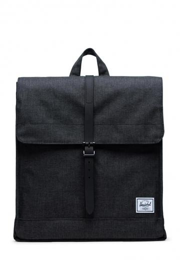 Herschel Supply Co. City mid volume backpack black crosshatch/black rubber