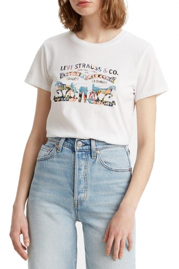 Levi's® The perfect tee seasonal two horses white