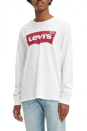 Levi's® long sleeve graphic tee white