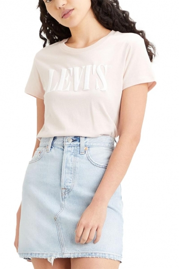 Levi's® The perfect tee serif logo sepia rose