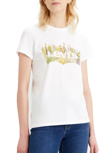 Levi's® The perfect tee batwing desert fill white