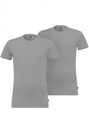 Levi's® solid crew t-shirt 2-pack middle grey
