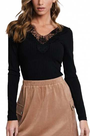 Rut and Circle lace top black - Delia