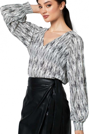 Rut & Circle Isabell balloon sleeve blouse