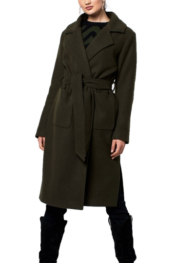 Rut and Circle coat army green - Tilda