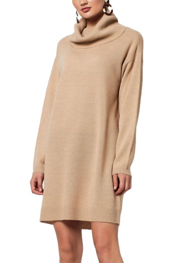 Rut & Circle knit dress Emelie beige