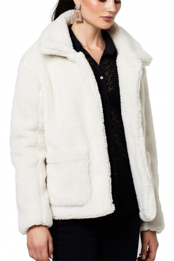Rut and Circle teddy jacket off white - Tea