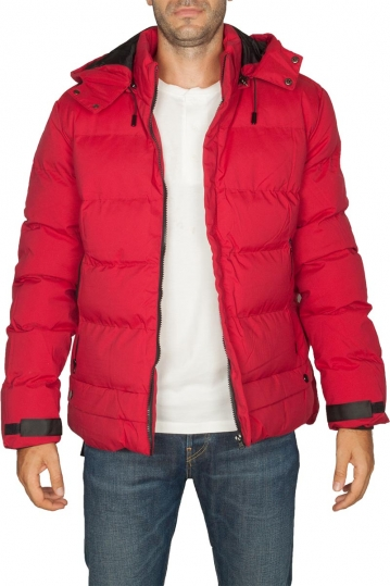 Splendid puffer jacket red with hood