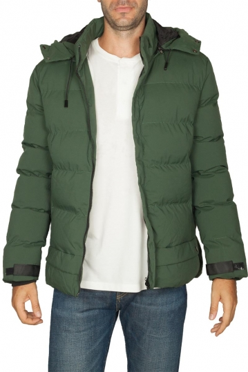 Splendid puffer jacket dark green with hood