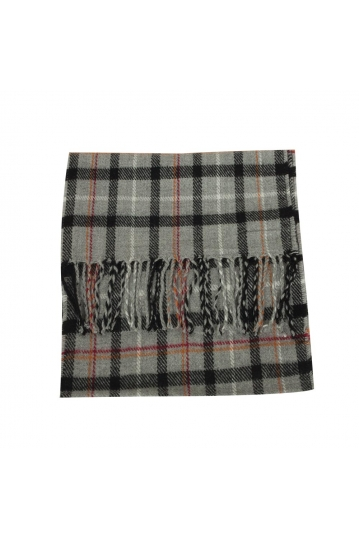 Men's scarf in grey check