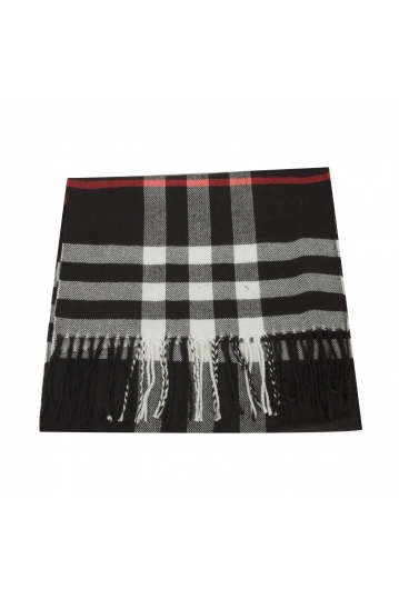 Men's scarf in black check