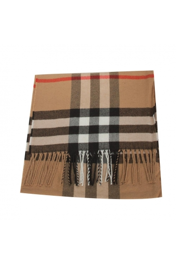 Men's scarf in brown check