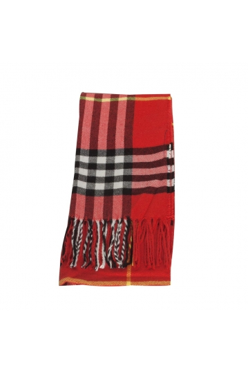 Men's tartan scarf red