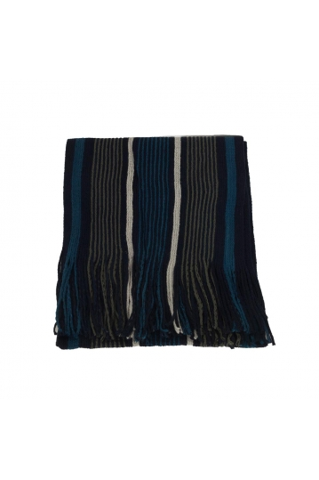 Men's striped scarf blue