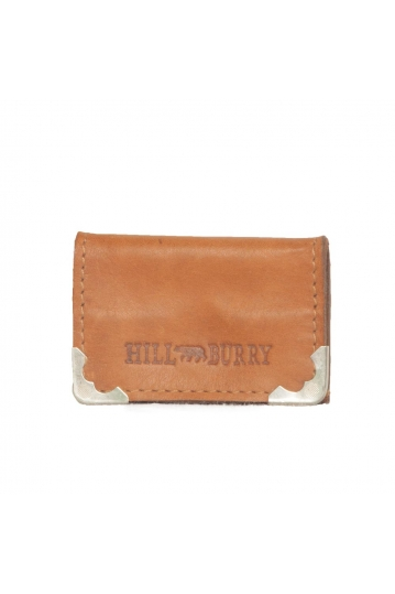 Hill Burry men's leather coin tray purse brown