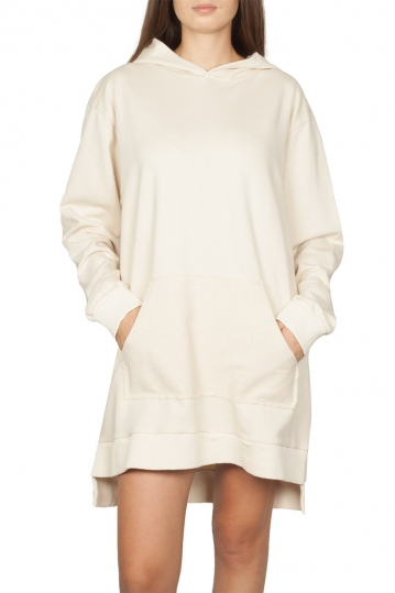 Noah hooded sweat dress ecru - Alexandra