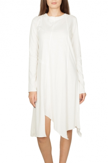 Noah asymmetrical dress white - Theodore
